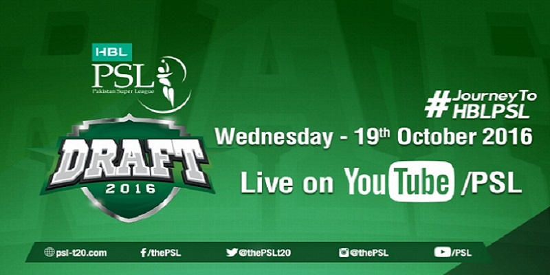 Pakistan Super League Player Draft