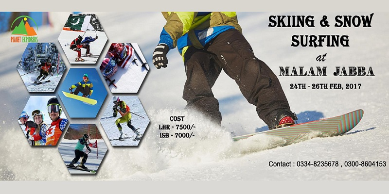 Skiing and Snow Surfing at Malam Jabba