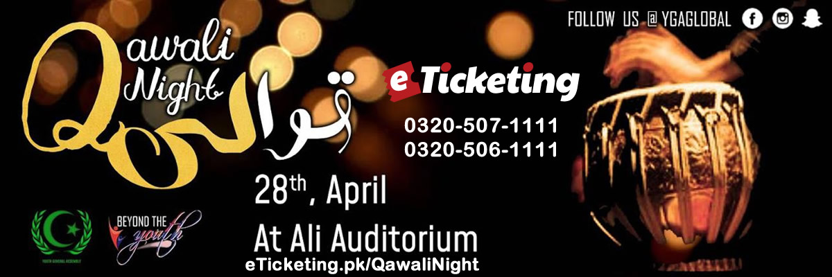 Qawali Night Tickets Youth General Assembly