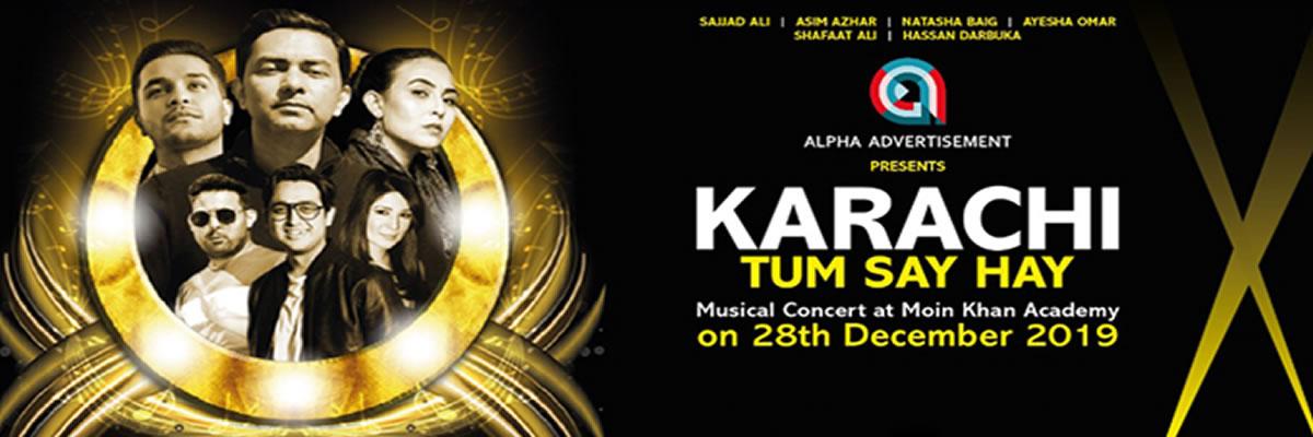 Karachi Tum Say Hay Tickets Alpha Advertisement
