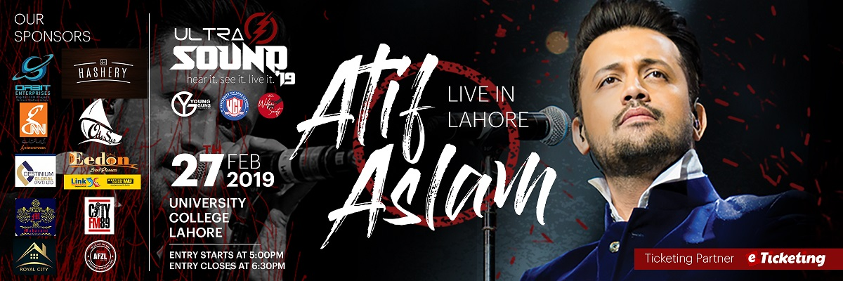 Atif Aslam Tickets UCL - University College Lahore