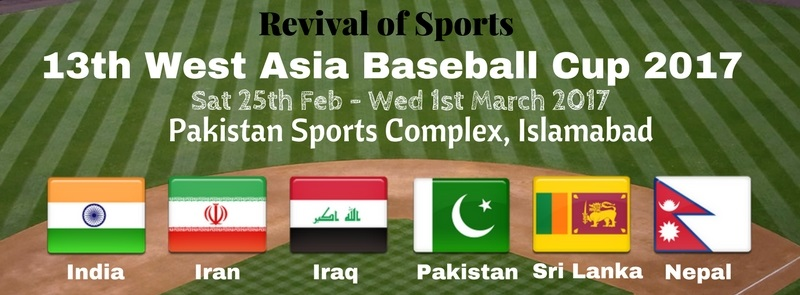 West Asia Baseball Cup Tickets Pakistan Federation Baseball