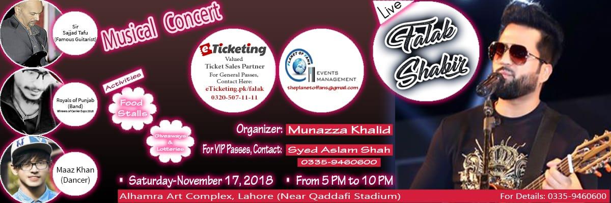 Falak Shabir Tickets The Planet of Fans