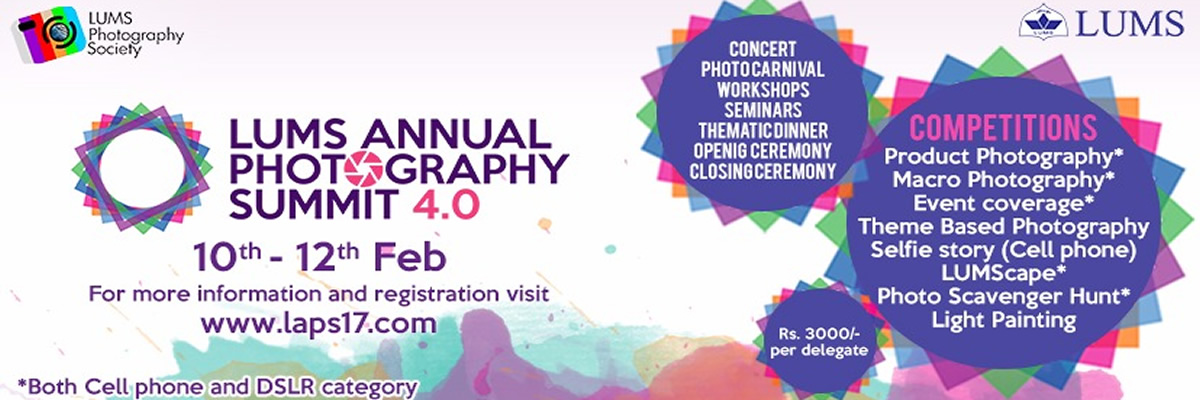 LUMS Annual Photography Summit Tickets