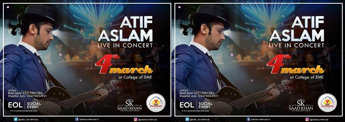 Atif Aslam EME Olympiad Concert Tickets
