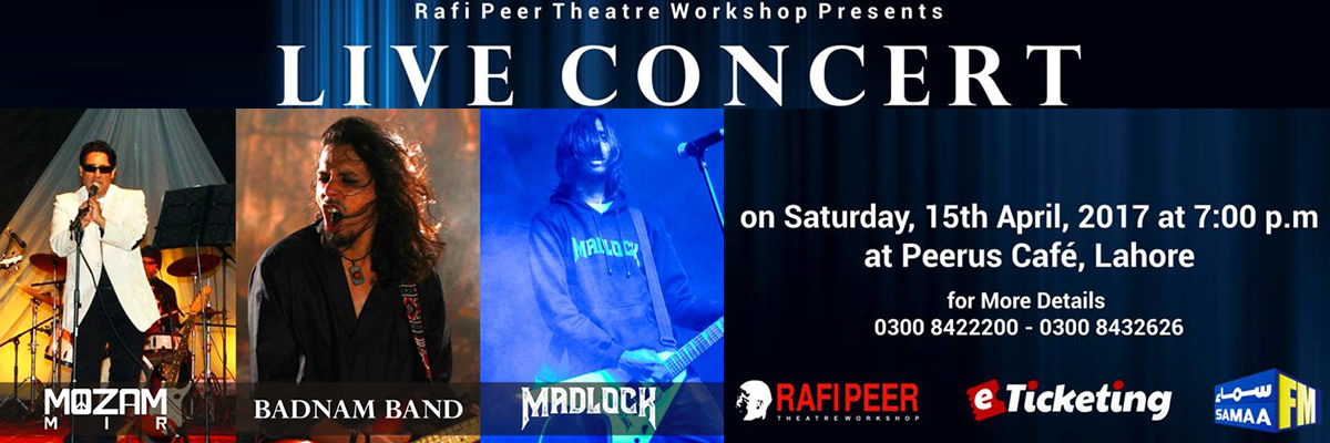 Rock Night Tickets Rafi Peer Theatre Workshop
