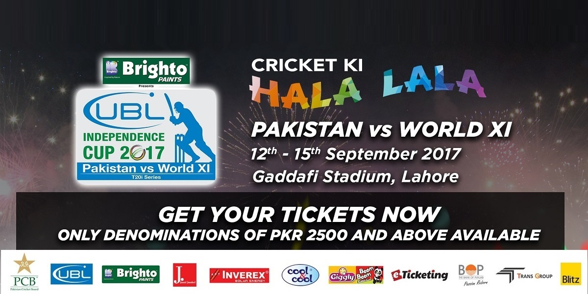 Pakistan v World XI Tickets Pakistan Cricket Board (PCB)