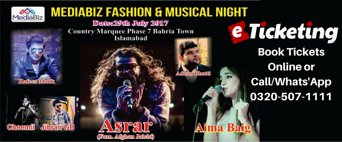 Fashion and Musical Night Tickets MediaBiz