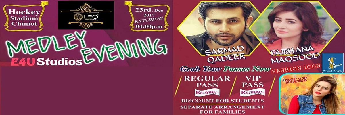 Medley Evening Tickets E4U Studios Pakistan