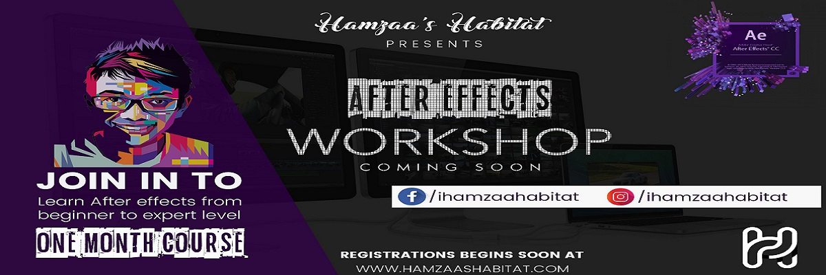 Adobe After Effects Workshop Tickets Hamzaa