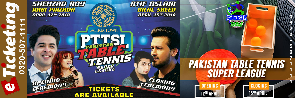 Pakistan Table Tennis Super League Tickets KH Marketing
