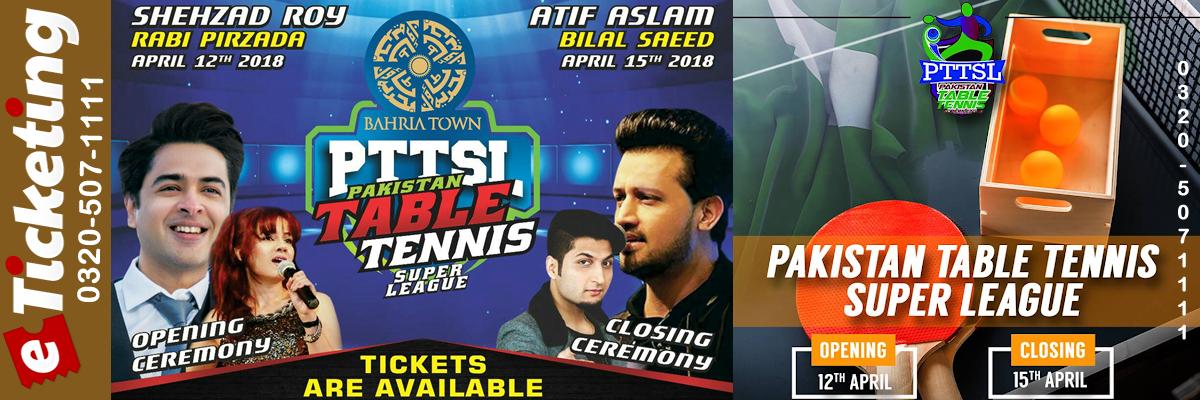 Pakistan Table Tennis Super League Tickets KH Marketing