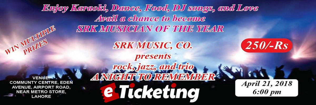 SRK Musician of the Year Tickets SRK Music, CO