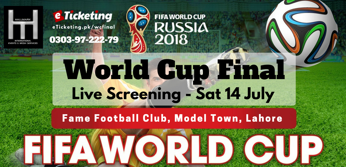 World Cup Final Live Screening Tickets Hall Mark International