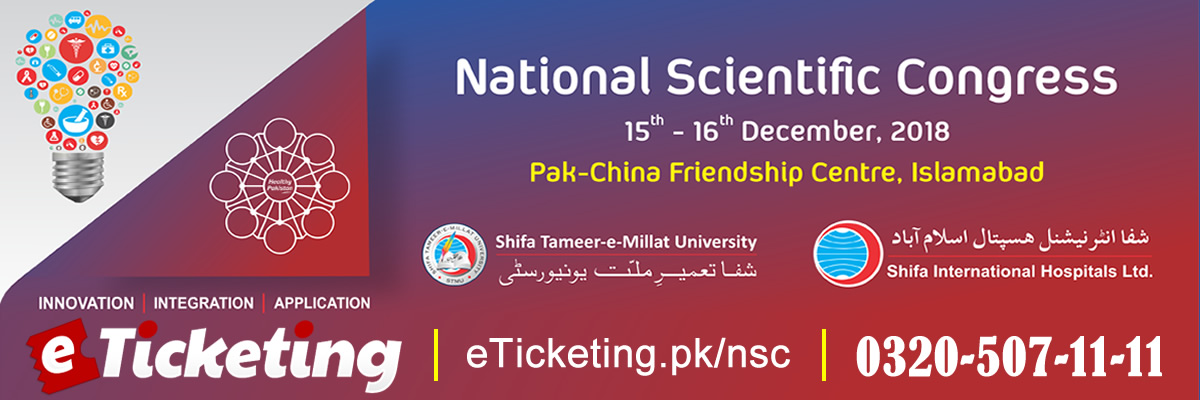National Scientific Congress Tickets Shifa Tameer-e-Millat University