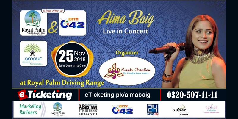 Aima Baig Tickets