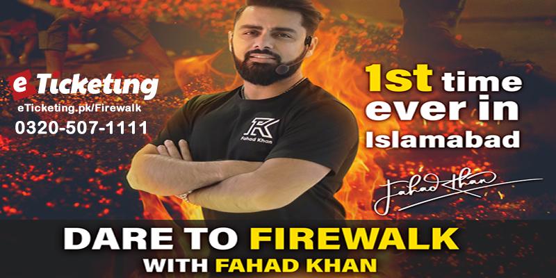 Firewalk With Fahad Khan Tickets