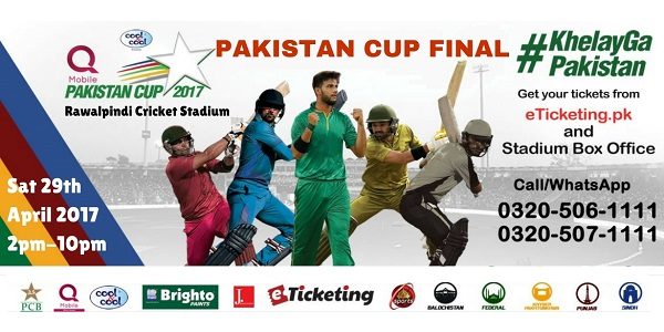 Pakistan Cup Final Tickets