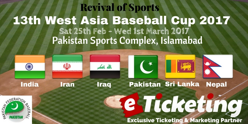 West Asia Baseball Cup Tickets
