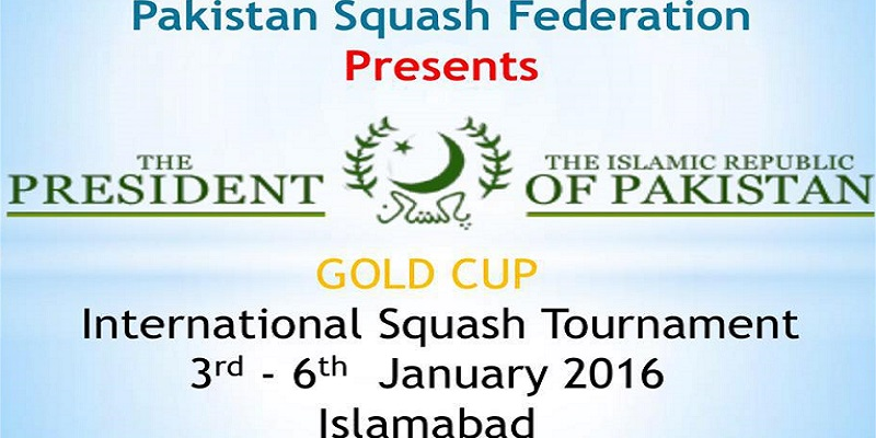 President Gold Cup International Squash Championship Tickets