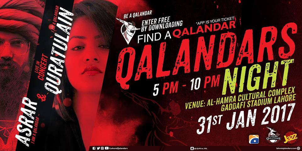 Lahore Qalandars Concert Tickets