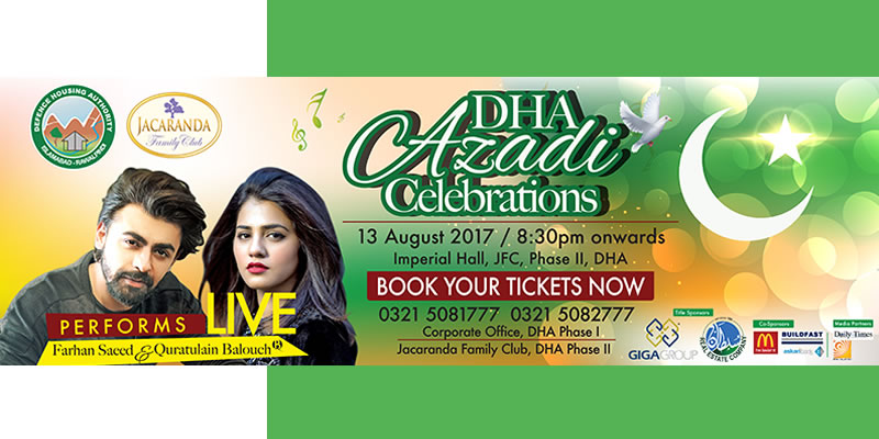 DHA Azadi Celebrations Tickets