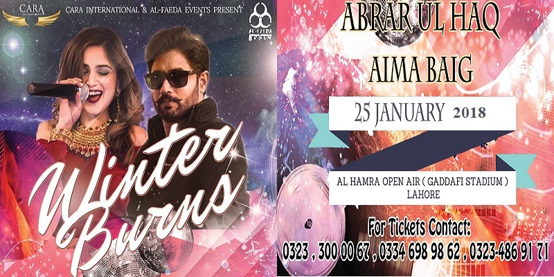 Winter Burns Live Concert With Abrar Ul Haq And Aima Baig Tickets