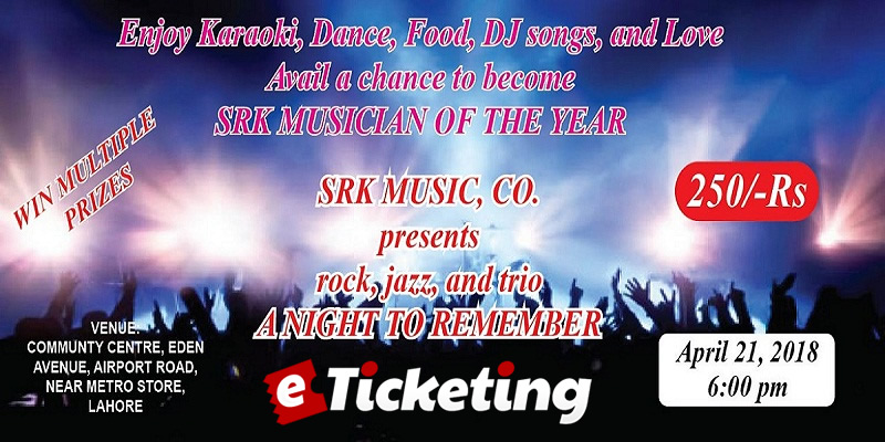 SRK Musician Of The Year Tickets