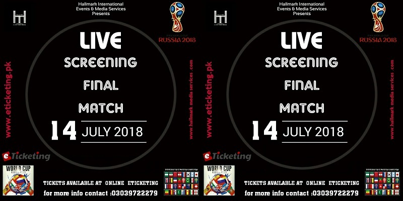 World Cup Final Live Screening Tickets