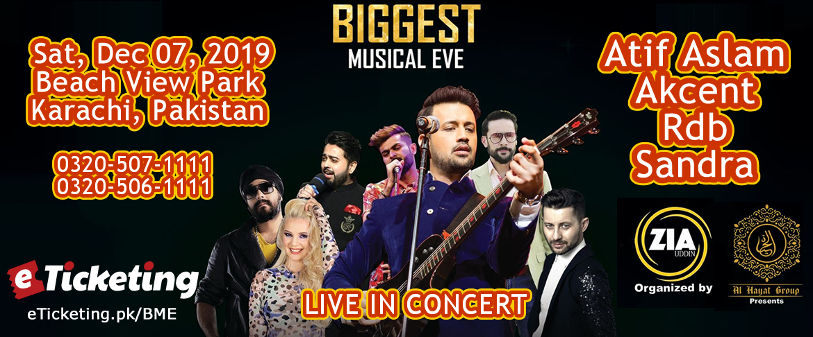 Biggest Musical Eve Ft. Atif Aslam, Akcent, Rdb and Sandra N