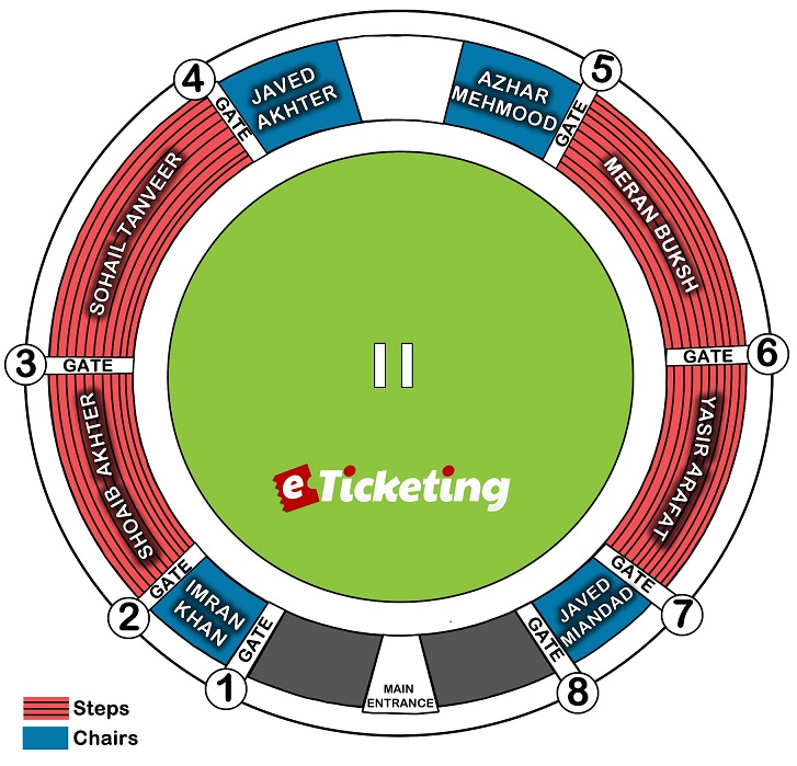 Pindi Cricket Stadium Seating Plan